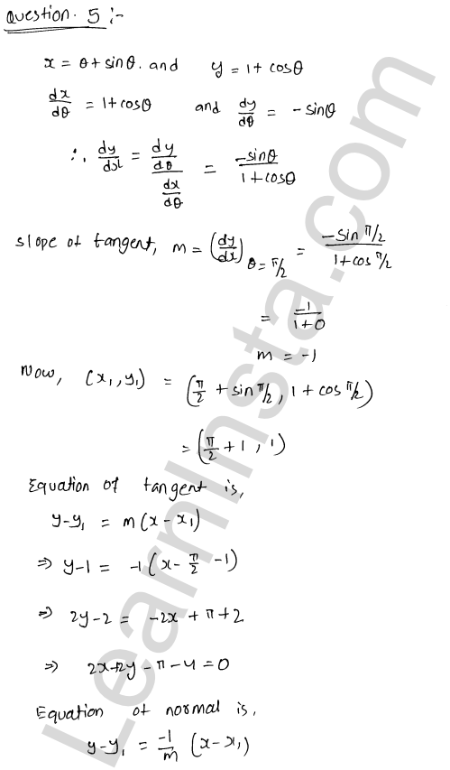 Solution of RD Sharma class 12 chapter 16 Tangents and Normals Ex 16.2 22