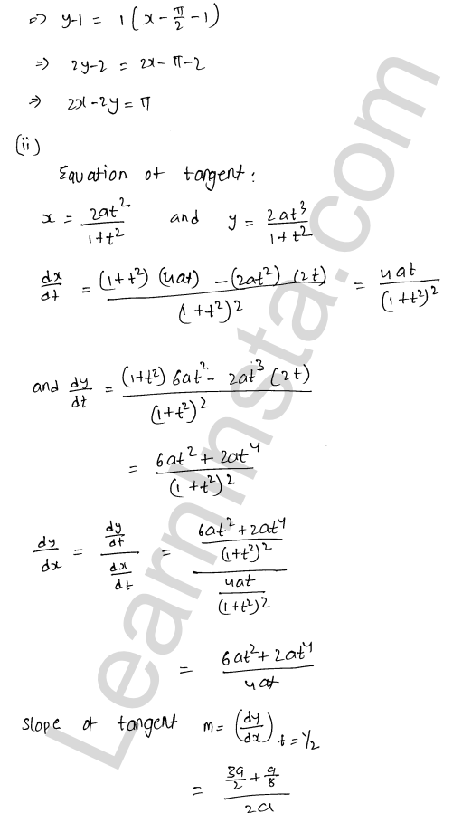 Solution of RD Sharma class 12 chapter 16 Tangents and Normals Ex 16.2 23