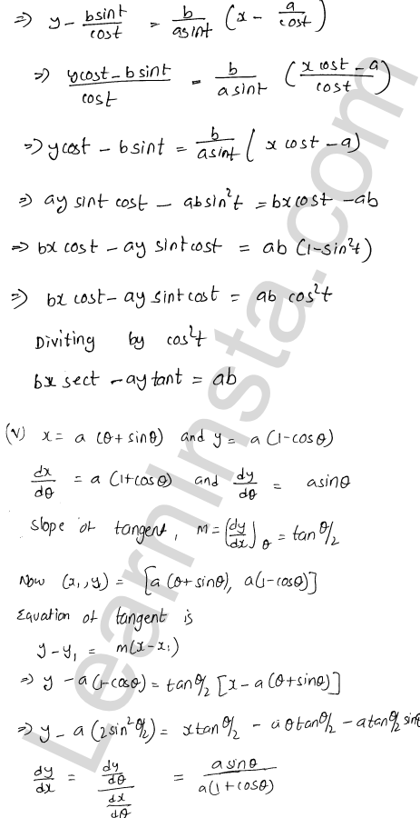 Class 12 RD Sharma solutions chapter 16 Tangents and Normals Ex 16.2 27