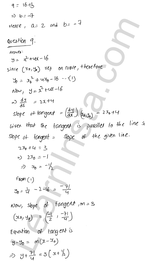 Class 12 RD Sharma maths solutions chapter 16 Tangents and Normals Ex 16.2 31