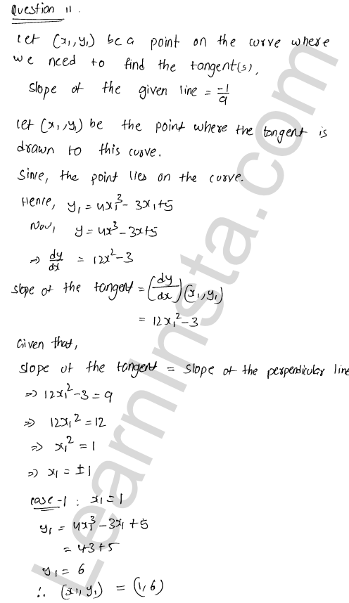 Class 12 RD Sharma maths solutions chapter 16 Tangents and Normals Ex 16.2 34