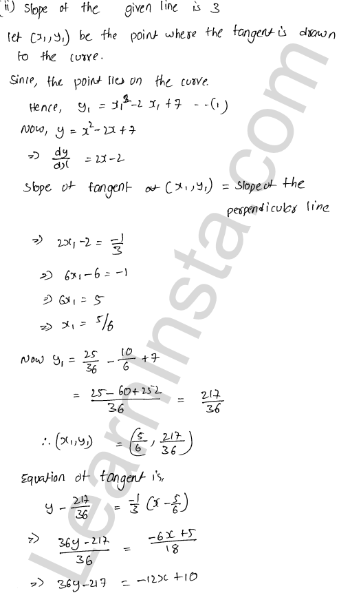 RD Sharma Class 12 Solutions Chapter 16 Tangents and Normals Ex 16.2 38