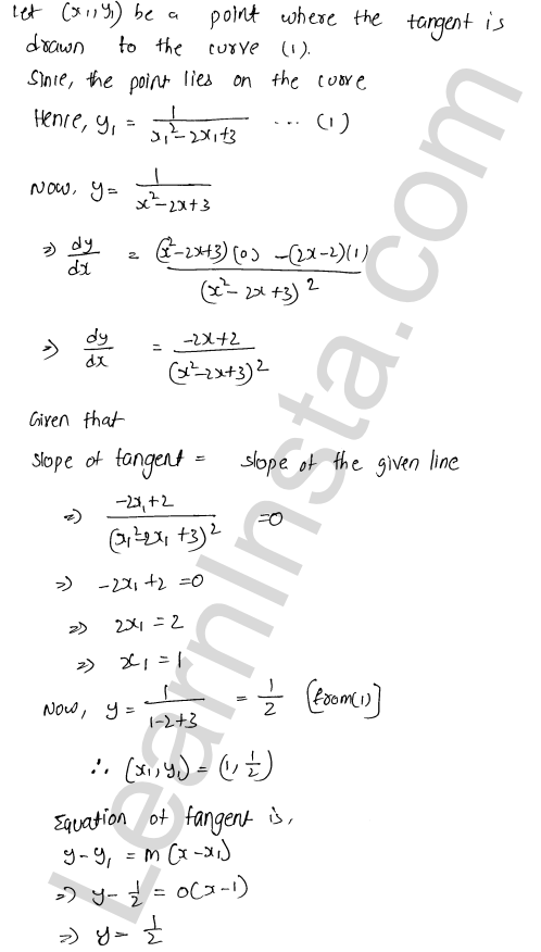 RD Sharma Class 12 Solutions Chapter 16 Tangents and Normals Ex 16.2 40