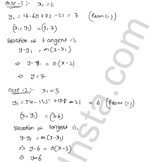 RD Sharma Class 12 Solutions Tangents and Normals Chapter 16 Ex 16.2 46