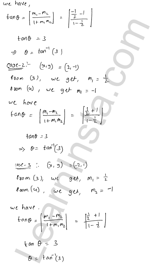 RD Sharma Solutions Class 12 Tangents and Normals Chapter 16 Ex 16.3 11