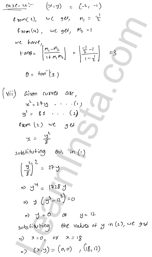 RD Sharma Solutions Class 12 Tangents and Normals Chapter 16 Ex 16.3 12