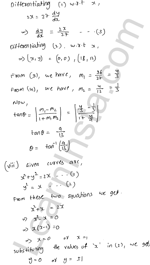 RD Sharma Class 12 Maths Solutions Chapter 16 Tangents and Normals Ex 16.3 13