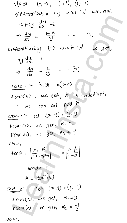 RD Sharma Class 12 Maths Solutions Chapter 16 Tangents and Normals Ex 16.3 14