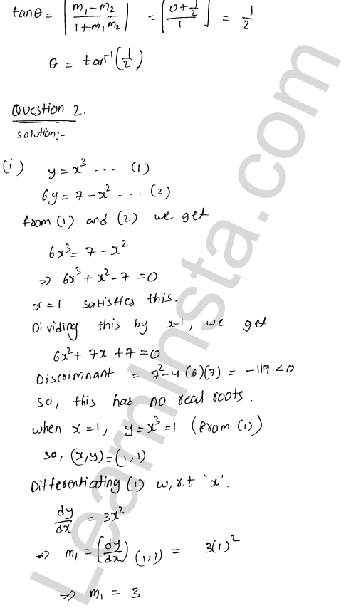 RD Sharma Class 12 Maths Solutions Chapter 16 Tangents and Normals Ex 16.3 15