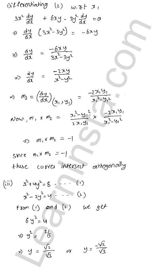 Solution of RD Sharma class 12 chapter 16 Tangents and Normals Ex 16.3 17