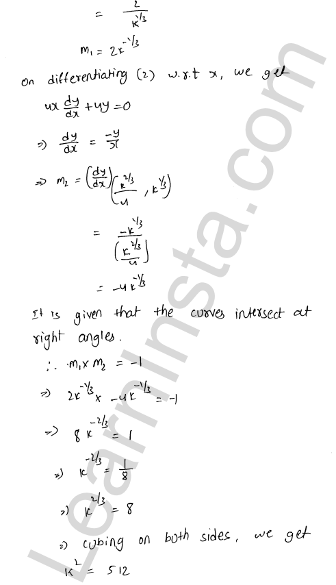 Class 12 RD Sharma solutions chapter 16 Tangents and Normals Ex 16.3 23