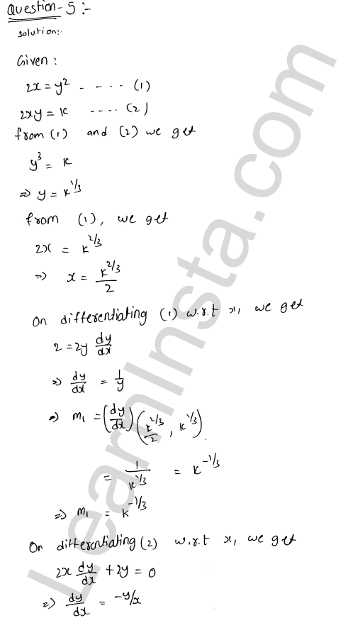 Class 12 RD Sharma solutions chapter 16 Tangents and Normals Ex 16.3 24