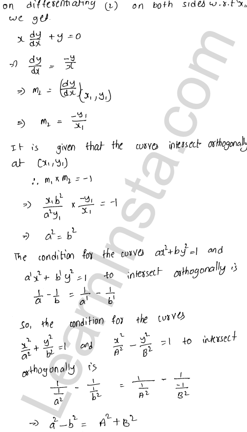 Class 12 RD Sharma maths solutions chapter 16 Tangents and Normals Ex 16.3 28