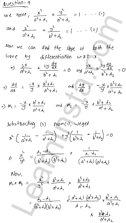RD Sharma Class 12 Solutions Chapter 16 Tangents and Normals Ex 16.3 29