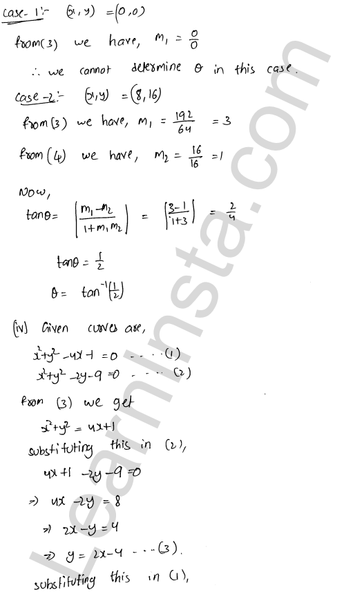 RD Sharma Class 12 Solutions Tangents and Normals Chapter 16 Ex 16.3 5