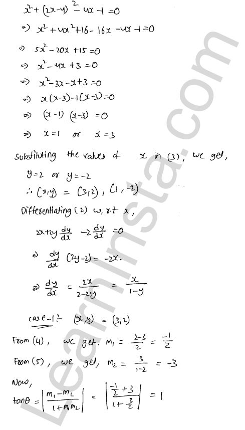 RD Sharma Class 12 Solutions Tangents and Normals Chapter 16 Ex 16.3 6