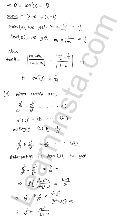 RD Sharma Class 12 Solutions Tangents and Normals Chapter 16 Ex 16.3 7
