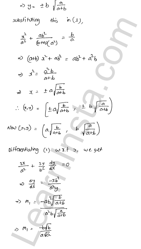 RD Sharma Class 12 Solutions Tangents and Normals Chapter 16 Ex 16.3 8