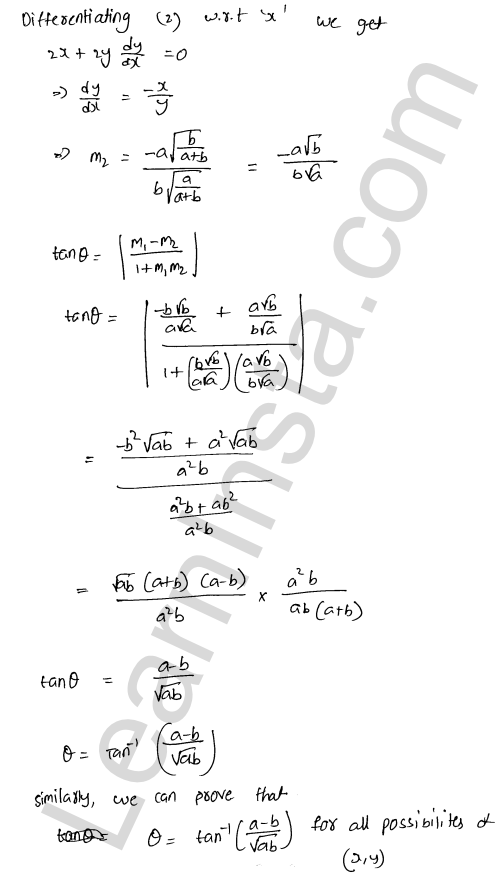 RD Sharma Solutions Class 12 Tangents and Normals Chapter 16 Ex 16.3 9
