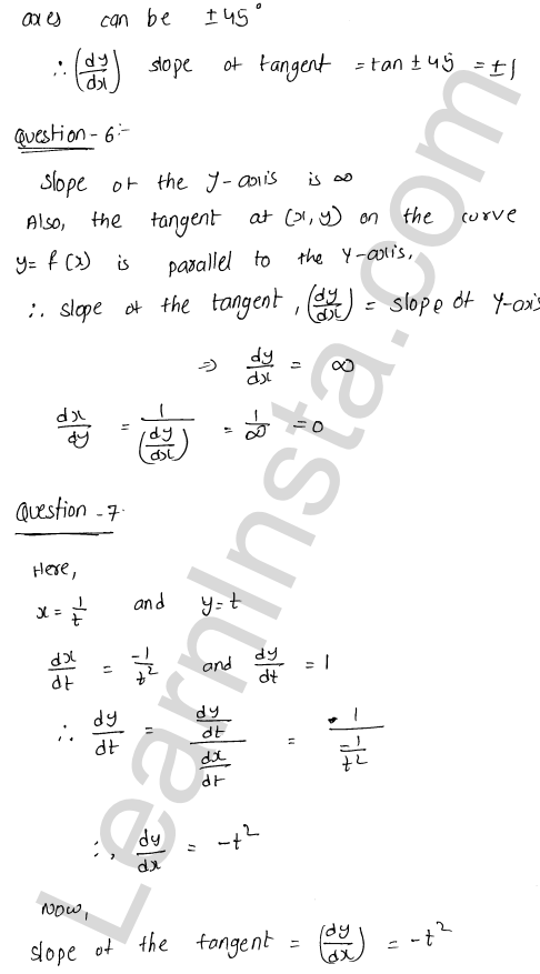 RD Sharma Solutions Class 12 Tangents and Normals Chapter 16 VSAQ 3