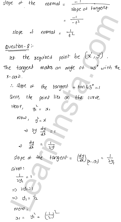 RD Sharma Class 12 Maths Solutions Chapter 16 Tangents and Normals VSAQ 4
