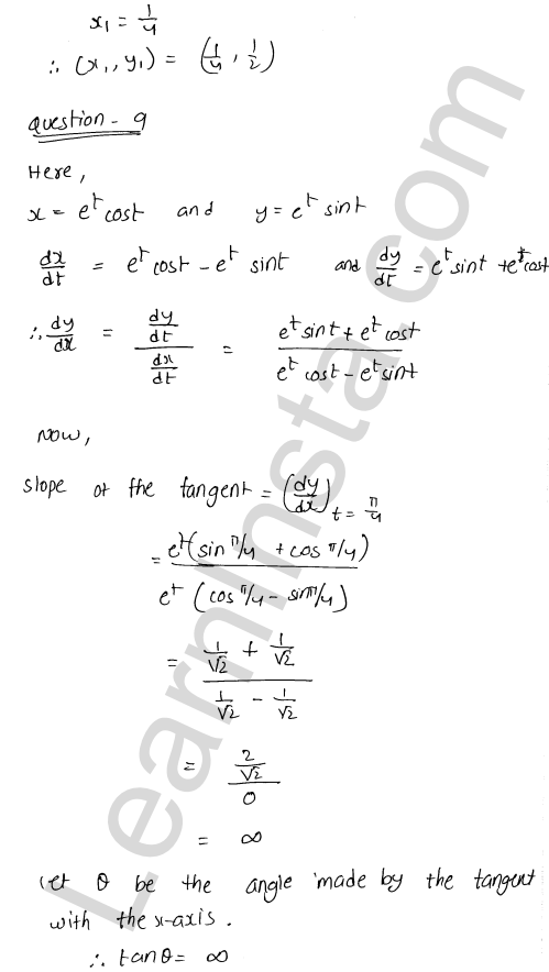 Solution of RD Sharma class 12 chapter 16 Tangents and Normals VSAQ 5