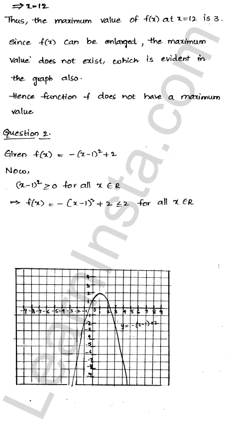 RD Sharma Class 12 Solutions Maxima and Minima Chapter 18 Ex 18.1 2