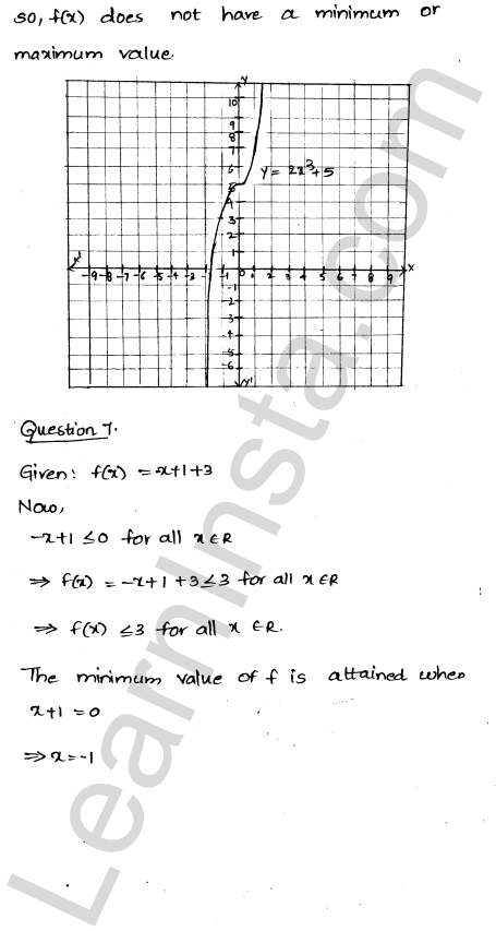Class 12 RD Sharma solutions chapter 18 Maxima and Minima Ex 18.1 6