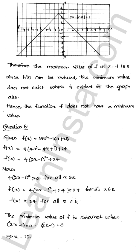 Class 12 RD Sharma maths solutions chapter 18 Maxima and Minima Ex 18.1 7