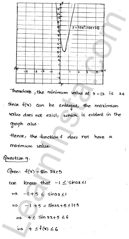 RD Sharma Class 12 Solutions Chapter 18 Maxima and Minima Ex 18.1 8