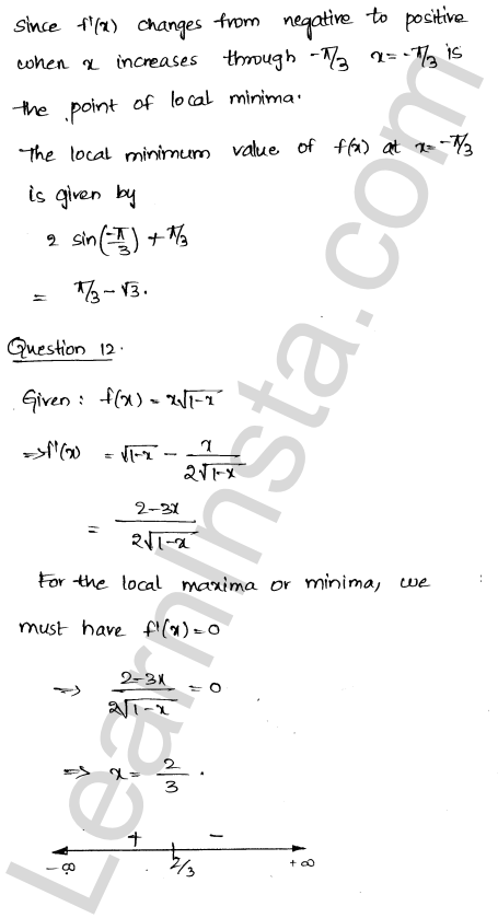Solution of RD Sharma class 12 chapter 18 Maxima and Minima Ex 18.2 12