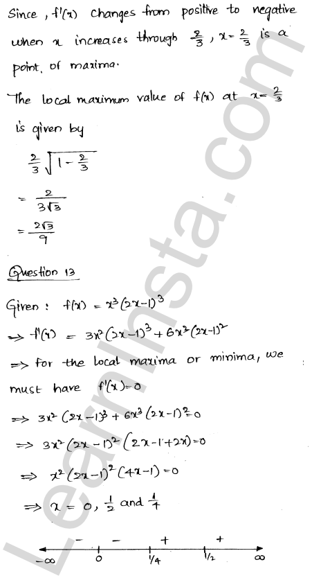 Class 12 RD Sharma solutions chapter 18 Maxima and Minima Ex 18.2 13