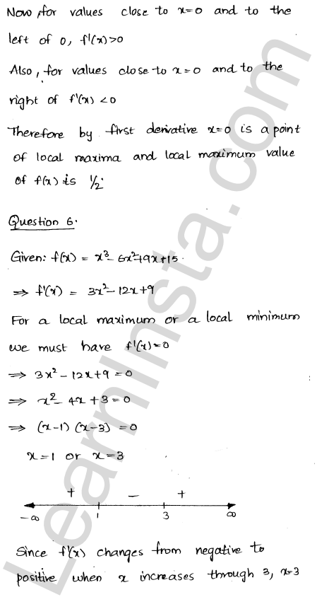 Class 12 RD Sharma solutions chapter 18 Maxima and Minima Ex 18.2 6