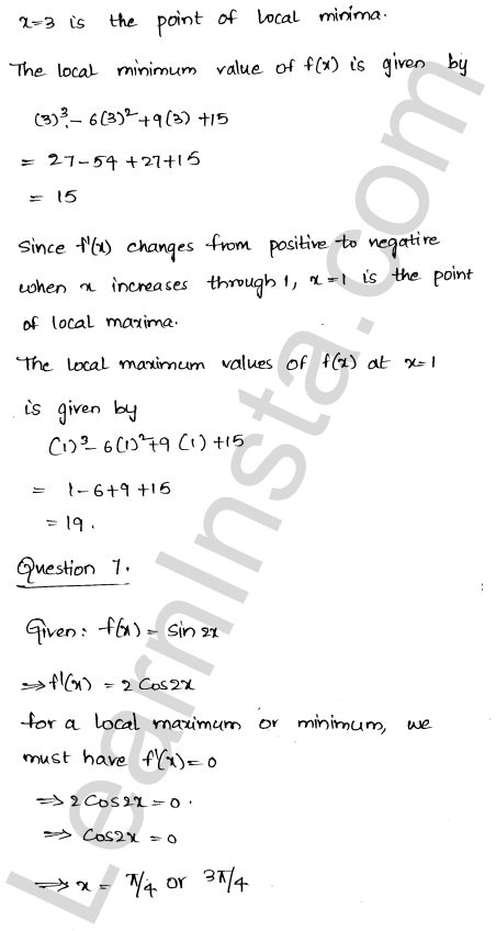 Class 12 RD Sharma maths solutions chapter 18 Maxima and Minima Ex 18.2 7