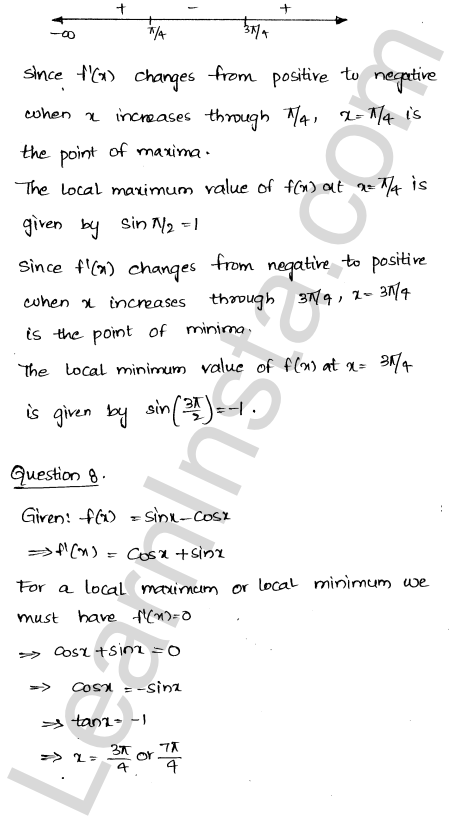 RD Sharma Class 12 Solutions Chapter 18 Maxima and Minima Ex 18.2 8