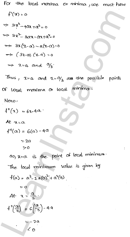 Solution of RD Sharma class 12 chapter 18 Maxima and Minima Ex 18.3 11