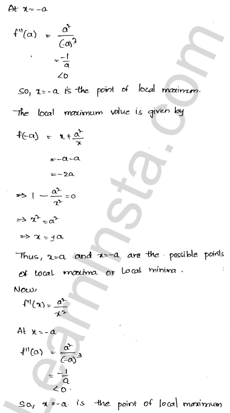 Class 12 RD Sharma solutions chapter 18 Maxima and Minima Ex 18.3 13