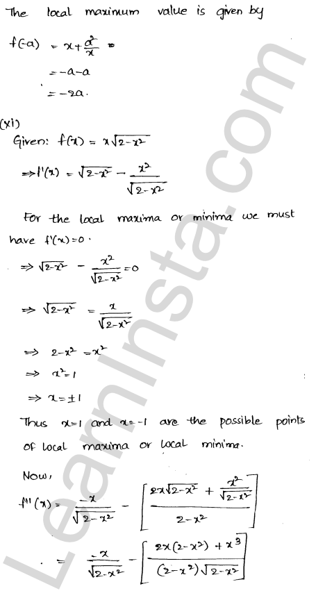 Class 12 RD Sharma solutions chapter 18 Maxima and Minima Ex 18.3 14