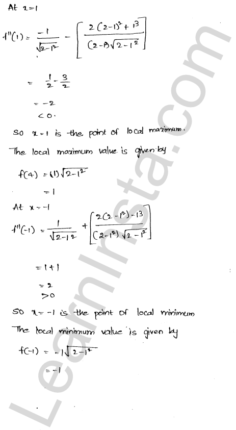 Class 12 RD Sharma solutions chapter 18 Maxima and Minima Ex 18.3 15