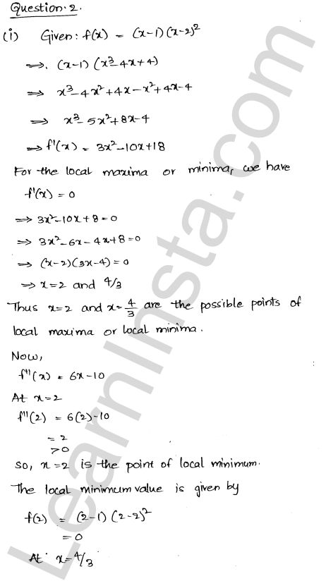 Class 12 RD Sharma maths solutions chapter 18 Maxima and Minima Ex 18.3 17