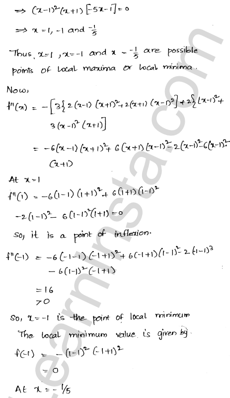 RD Sharma Class 12 Solutions Chapter 18 Maxima and Minima Ex 18.3 20