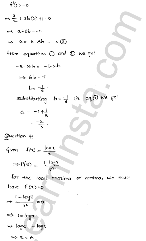 RD Sharma Class 12 Solutions Maxima and Minima Chapter 18 Ex 18.3 22