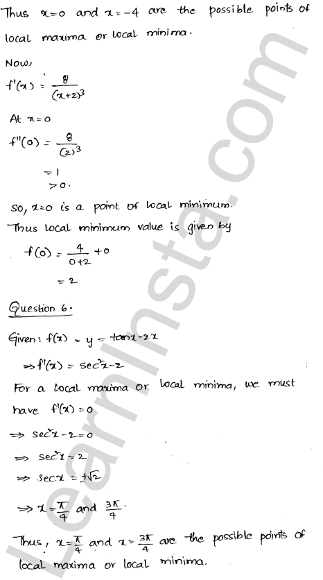 RD Sharma Class 12 Maths Solutions Chapter 18 Maxima and Minima Ex 18.3 24