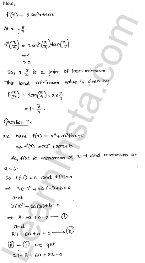 Solution of RD Sharma class 12 chapter 18 Maxima and Minima Ex 18.3 25