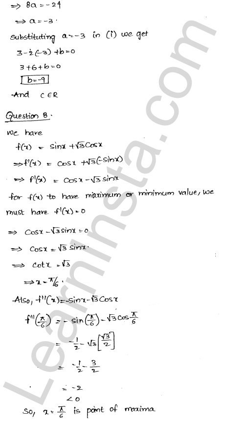 Class 12 RD Sharma solutions chapter 18 Maxima and Minima Ex 18.3 26