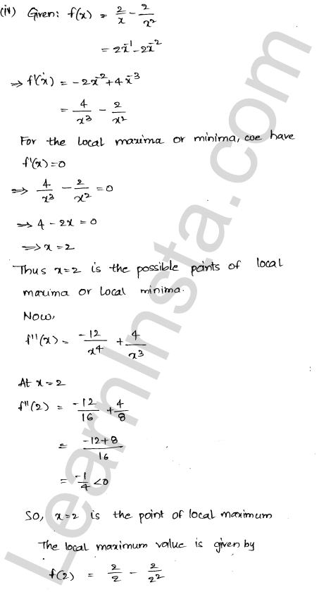 RD Sharma Class 12 Solutions Maxima and Minima Chapter 18 Ex 18.3 5