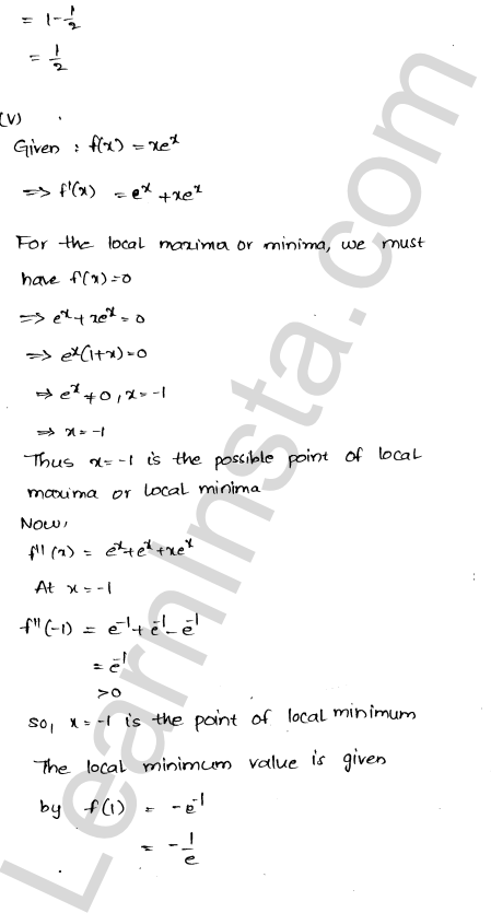 RD Sharma Class 12 Solutions Maxima and Minima Chapter 18 Ex 18.3 6