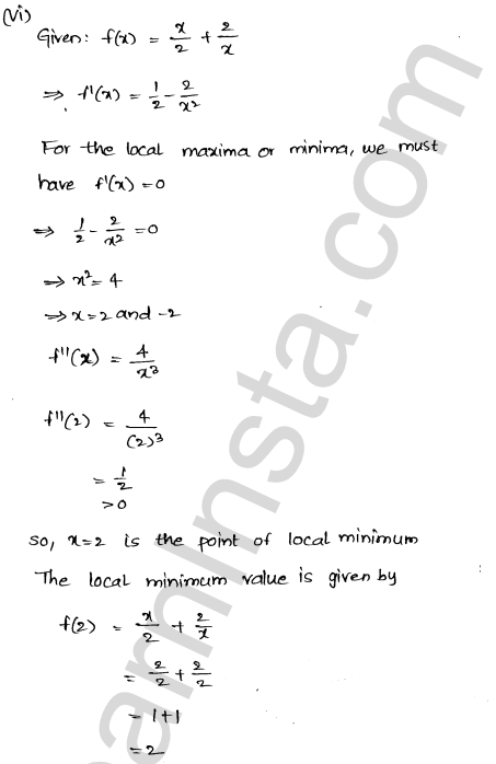 RD Sharma Solutions Class 12 Maxima and Minima Chapter 18 Ex 18.3 7