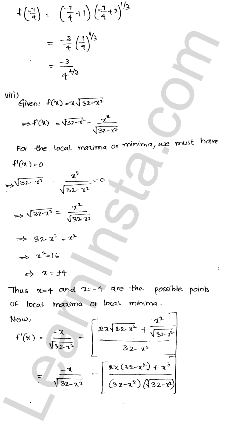 RD Sharma Solutions Class 12 Maxima and Minima Chapter 18 Ex 18.3 9