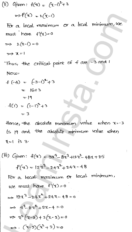 RD Sharma Class 12 Solutions Maxima and Minima Chapter 18 Ex 18.4 2